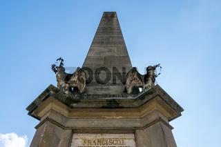 Carolina Obelisk at Museum Square in Cluj Napoca, Romania