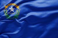 Waving state flag of Nevada - United States of America