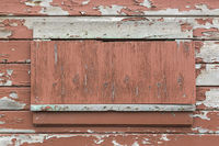 Weathered Wood Panel Wall With Peeling Paint Textured Background
