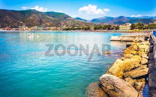 Waterfront of Sestri Levante Liguria Italy