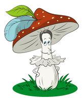 Cartoon Fly-Agaric Mushrooms