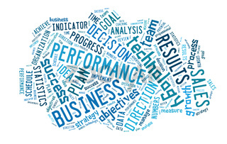 wordcloud illustration of business words