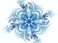 Abstract mandala or flower - digitally generated image