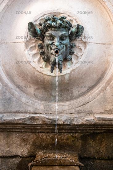 bacchus fountain in Marche Italy