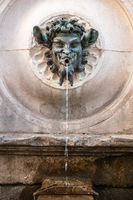 bacchus fountain in Marche Italy