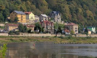 Decin, linkes Elbufer, Tschechien
