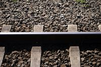 Track bed close-up