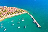 Novigrad Istarski historic coastal town aerial view