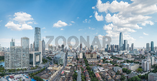 tianjin skyline and cityscape