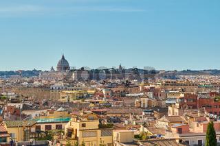 Rome skyline in Italy