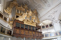 Church pipe organ in Celle, Germany