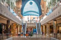 The interior of the building of Mercado Colon in Valencia, Spain