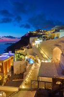 Thera town in Santorini