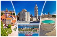 Town of Zadar tourist postcard
