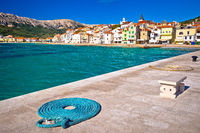 Baska. Town of Baska waterfront architecture view