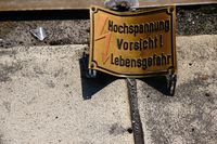 Sign: Attention High voltage!
