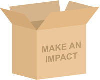Make An Impact Charity Box Vector