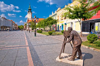 Town of Sombor square and architecture view, Vojvodina region of Serbia