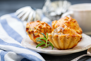 Traditional meat mini pies on a plate.