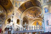 Interior of Saint Mark's Basilica in Venice