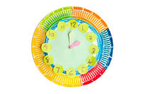 Colorful child handwork clock