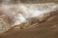 Krafla Geothermal Area of Hverir, Namafjall in Northern Iceland