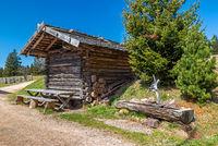 Hut at Giogo di Meltina, Moeltner Joch, South Tyrol