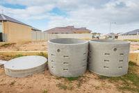 Two concrete soakwells