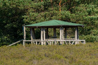 round barbecue pavilion with green roof
