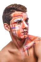 young man with body paint