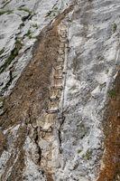 Klettersteig auf der Zugspitze in Bayern