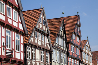 Half-timbered houses in Celle, Germany