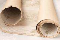 Antique wallpaper roll