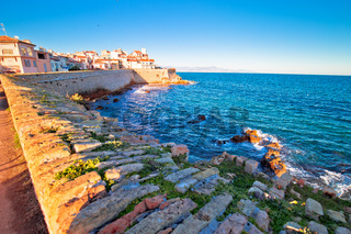 Antibes historic old town seafront and landmarks view
