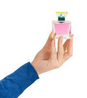 Hand with perfume