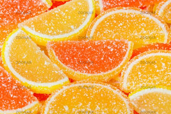 Sweet fruit lemon marmalade background