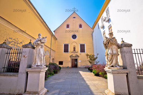 Osijek Saint Jacob church street view