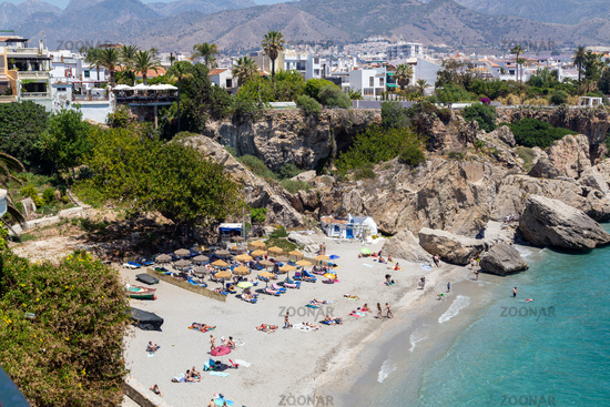 Calahonda Beach in Nerja, Spain