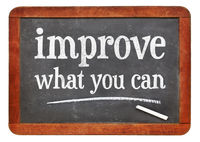 Improve what you can