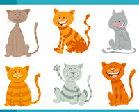 funny cats and kittens animal characters set