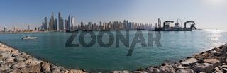 Marina Panorama von Palm Island, Dubai