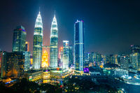 Malaysia City Skyline at Night