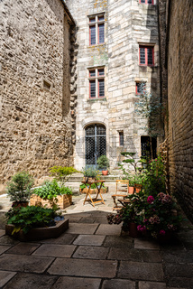 Medieval courtyard in historic centre of Vannes