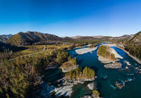 autumn valley of mountain river