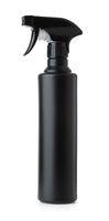 Black plastic spray bottle