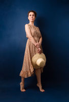 Full length portrait of a confident fifty year old woman