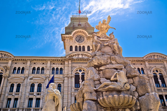 Trieste city hall on Piazza Unita d Italia square view