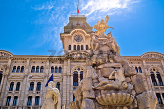 Trieste city hall on Piazza Unita d Italia square view