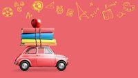 Back to school car animation