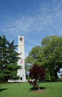 NC State University campus bell tower in Raleigh